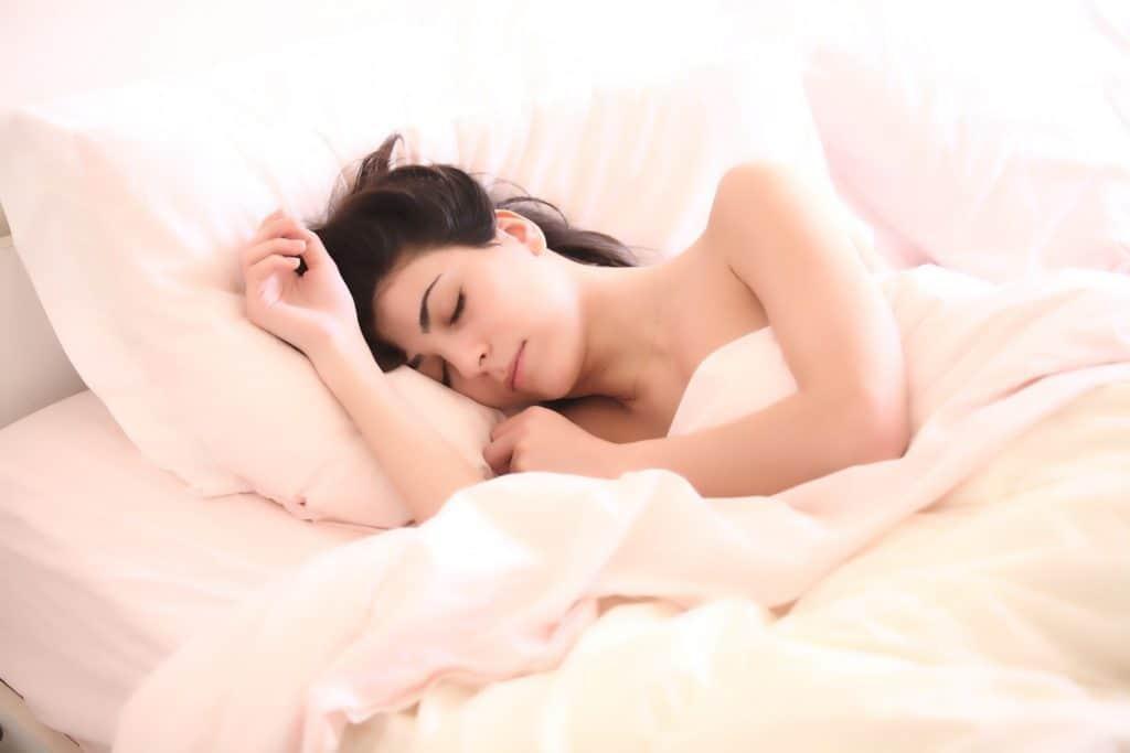Frau, die schläft, Melatonin das Schalfhormon